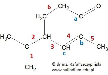 Określanie liczby moli niewiążących par elektronowych w próbce karwonu