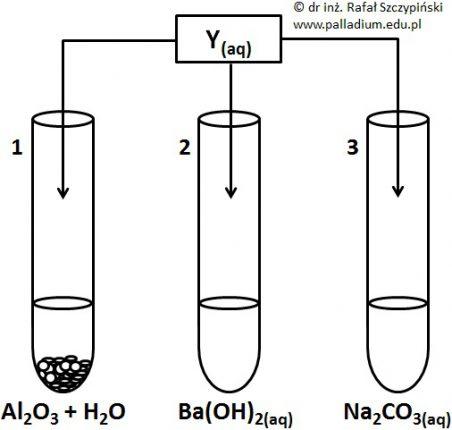 *Wybór probówek, w których zaobserwowano zmiany w wyniku reakcji wodorku niemetalu, którego wzór trzeba odszyfrować