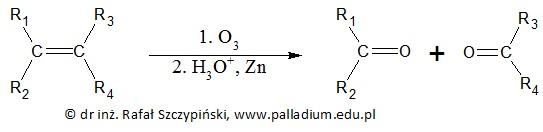 Określanie nazw systematycznych produktów ozonolizy cyklicznego dienu