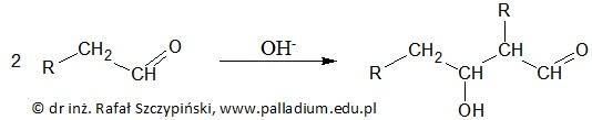 Wybór związku chemicznego ulegającego kondensacji aldolowej