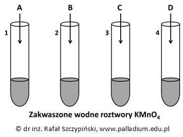Zapis równania reakcji chemicznej na podstawie doświadczenia z udziałem aldehydów i ketonu