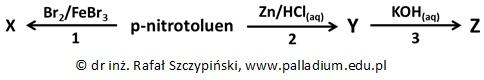 *Określanie wzoru grupowego głównego produktu reakcji bromowania p-nitrotoluenu oraz jego nazwy